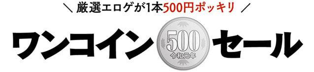 ワンコイン500円セール